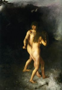 """Adam and Eve"" - Hans Heyerdahl (1857-1915)"