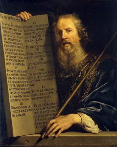 Moses and the Ten Commandments. Philippe de Champaigne (1602-1674)